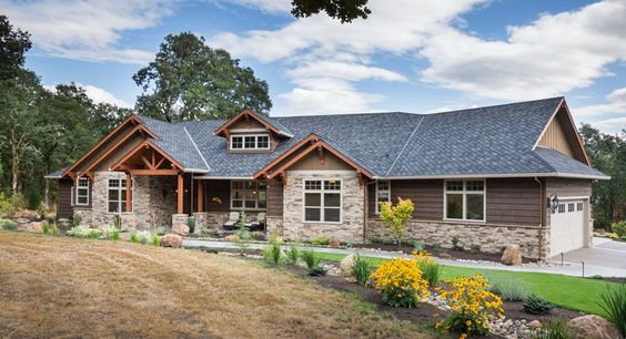 Craftsman ranch ranch house plans and house plans on for Thehousedesigners com home plans