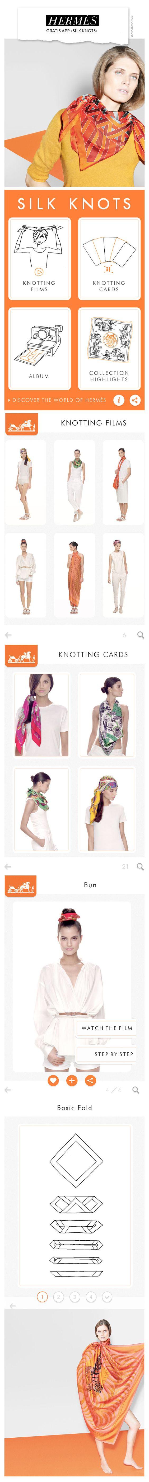 Hermès App «Silk Knots» | The House of Beccaria~
