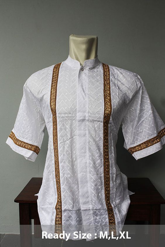 Cool eid clothing short caftan tunic traditional salwar kameez vintage style for muslim men Retro style fashion for muslimah
