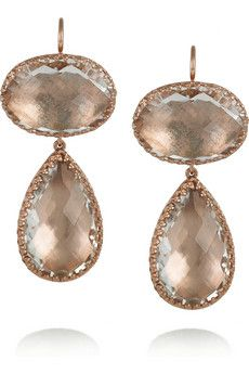 LARKSPUR & HAWK  Lily rose gold-dipped topaz drop earrings