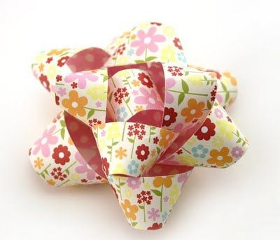 Very nice bow from scrapbook papers