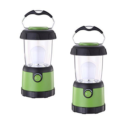 2X Compact Hanging LED Camping Light Tent Emergency Lantern AA Battery Operated