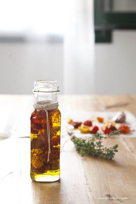 Tarjeta d embarque: Tomates cherry confitados {Conservas, Ventanas verdes}