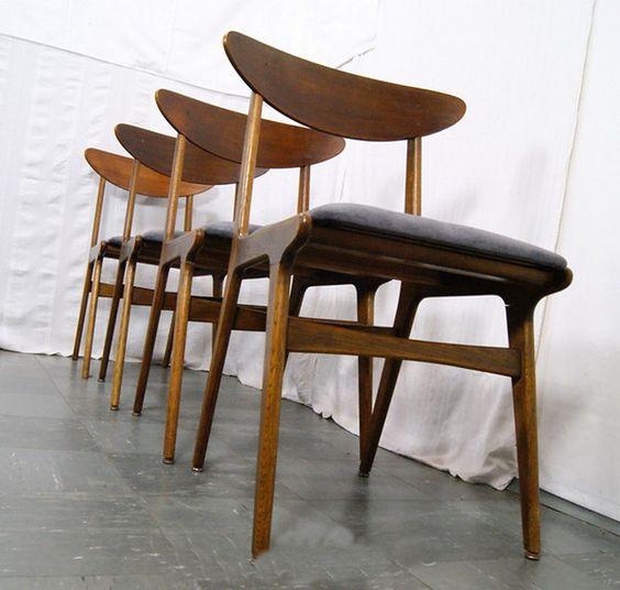 4 Teak Designstühle, Dänemark, 60er, neu gepolstert & bezogen. VERKAUFT nach Dresden.
