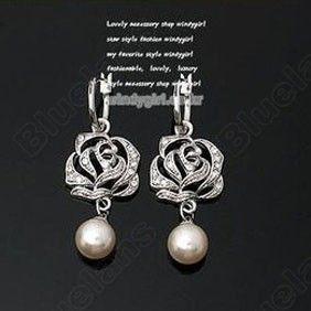 Discount China china wholesale Elegant Natural Rose Pearl Inlaid Earrrings 6504 [6504] - US$0.99 : Bluelans