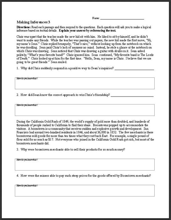 Worksheets Reading Worksheets For High School inference school resources and worksheets on pinterest free ela activities this middle high resource has a wide variety
