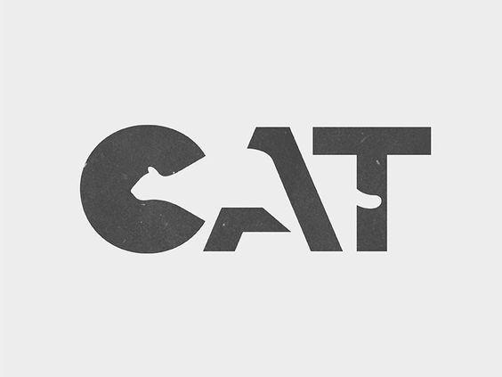 Kuvassa on harmaalle pohjalle piirretty kissa joka sekoittuu tummemman harmaaseen CAT-tekstiin. Kun kuvaa katsoo pitkään, tausta ja kuva sekoittuvat.