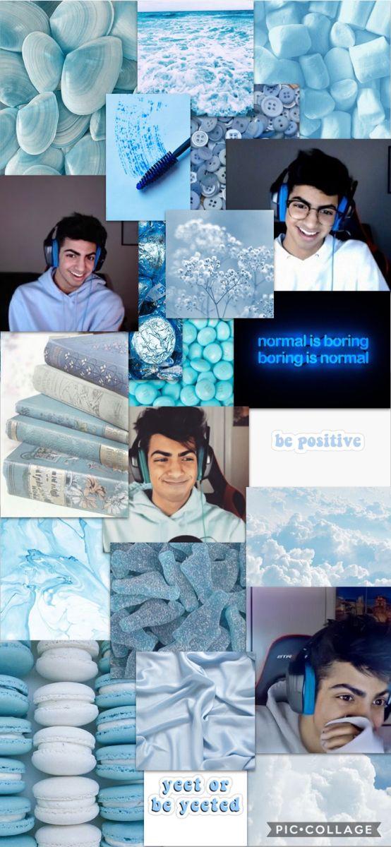 Blue Skeppy In 2020 Team Wallpaper Blue Aesthetic Minecraft Youtubers
