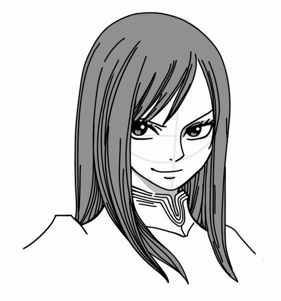 How to Draw manga: Erza Scarlet from Fairy Tail   How to ...