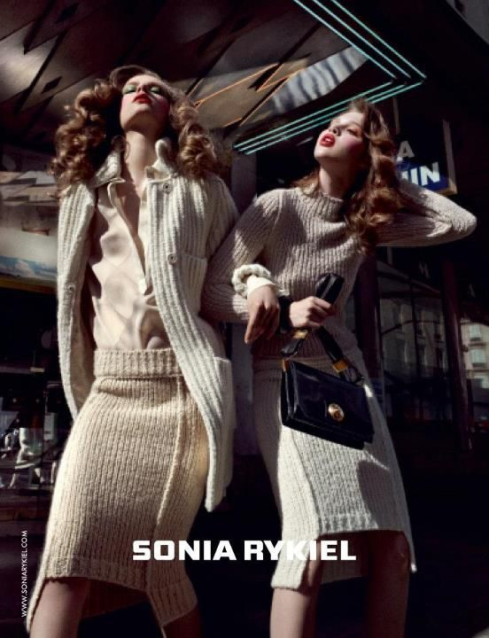 Anais Pouliot & Caroline Brasch Nielsen for Sonia Rykiel Fall 2012 Campaign