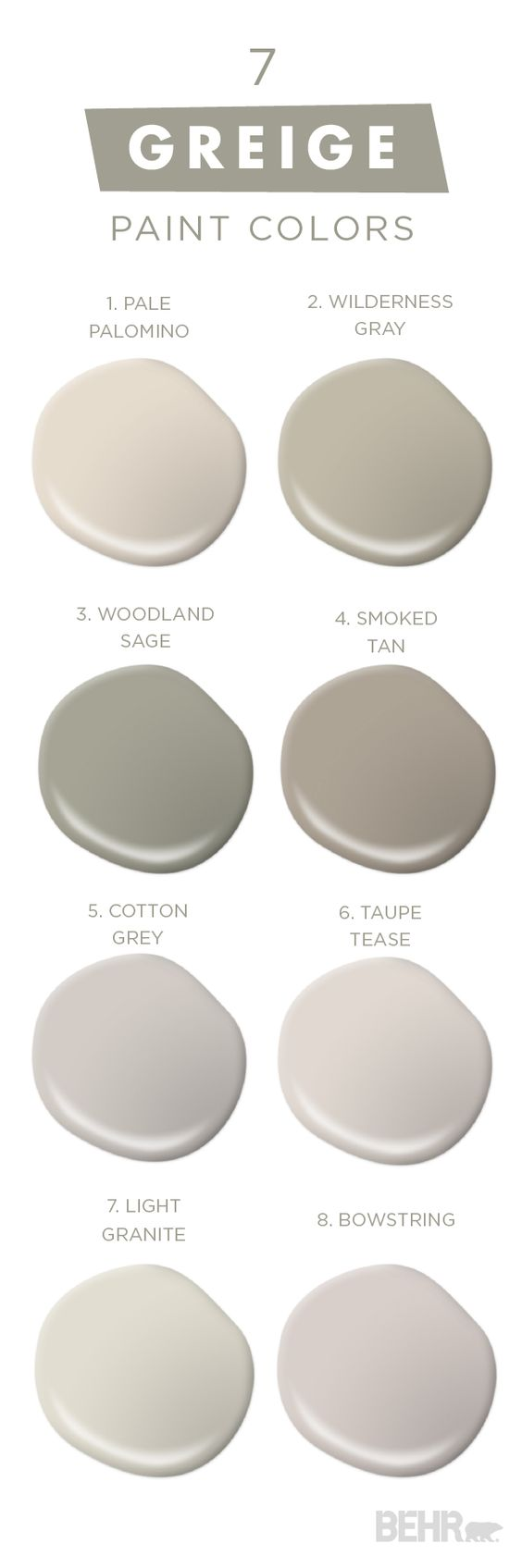 You can never have too much of a good thing with this for Grey beige paint color