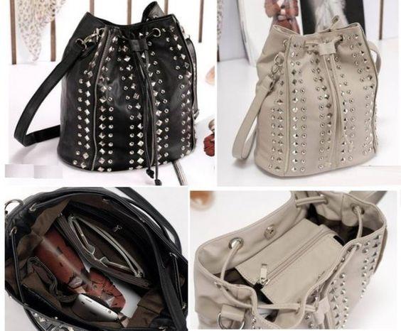 Cinch Riveted Handbag | Pyrefly