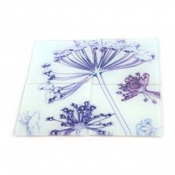 Gillian Arnold Fennel Canopy Glass Coaster Set