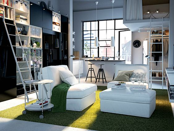 Cool loft and great use of small space