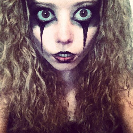 scary halloween makeup for girls | ... halloween #makeup #costume ...
