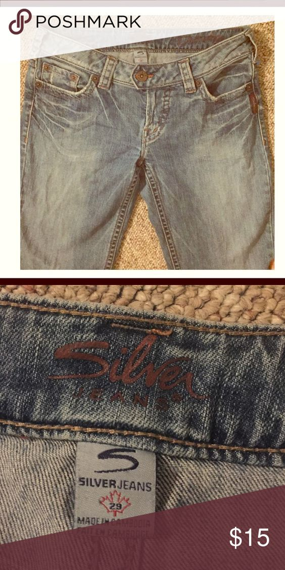 😍 Silver Jeans 👖 These are a size 29 with 31 in length. They