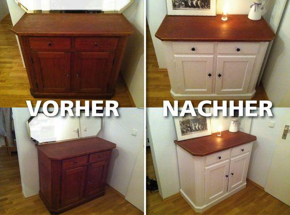 DIY Shabby Chic Kommode Vorher, nachher Furnitures diy - küche lackieren vorher nachher