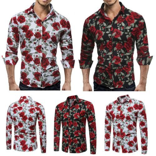 Luxury Men/'s Stylish Casual Dress Shirt Slim Fit T-Shirts Formal Long Sleeve HOT