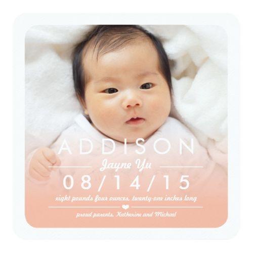 Baby Girl Announcement Instagram Square Baby Girl Birth – Pinterest Birth Announcement