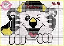 Resultado de imagem para graficos de ponto cruz tigre