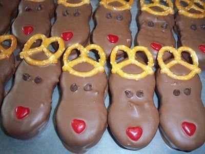 Nutter Butter Reindeer Cookies, yummy!