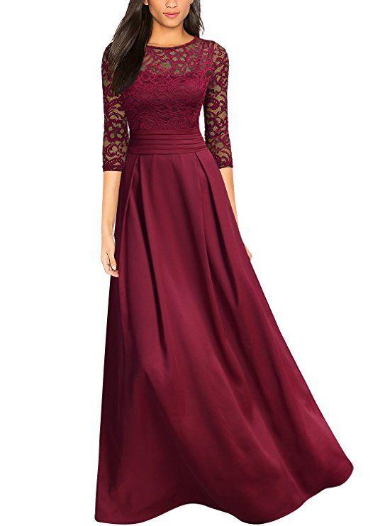 Sehr Elegantes Bodenlanges Abendkleid Toll Als Kleid Fur Brautjungfern Fur Den Abschlussball Oder Vintage Spitzenkleider Abendkleid Spitzenkleider