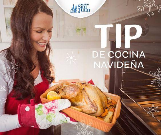 #TipdeNavidad: para que el pavo navideño te quede crocante, te recomendamos engrasarlo por dentro y por fuera con una mezcla de mantequilla, vino blanco, sal y pimienta, esto lo puedes aplicar con las manos o una brocha de cocina.  #NavidadSanJuan