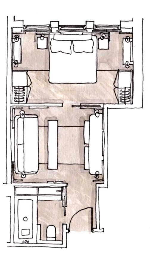 Six Senses Duxton Singapore Pearl Suite 387 Sq Ft 36 Sq M Hotel Bedroom Design Hotel Room Plan Hotel Room Design Plan