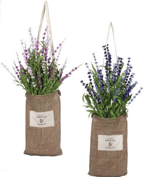 Beautiful set of two artificial Lavender wall hanging arrangements with each…