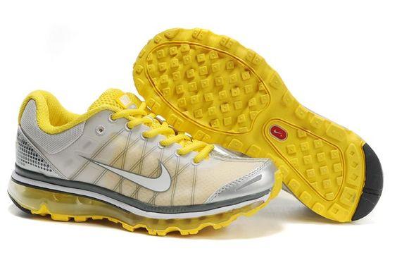 Yellow Shoe, Nike Shoe, Nike Air Max 2009