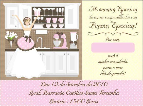 Charme de noiva: Convite para chá de panela!