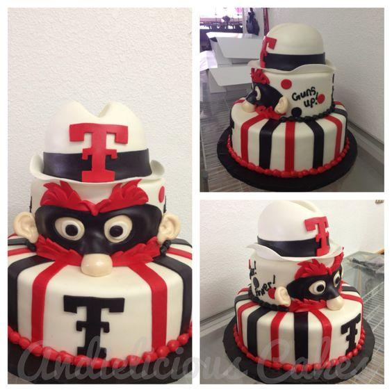 Texas Tech/ Raider Red face cake!