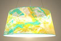 designer lamp with print