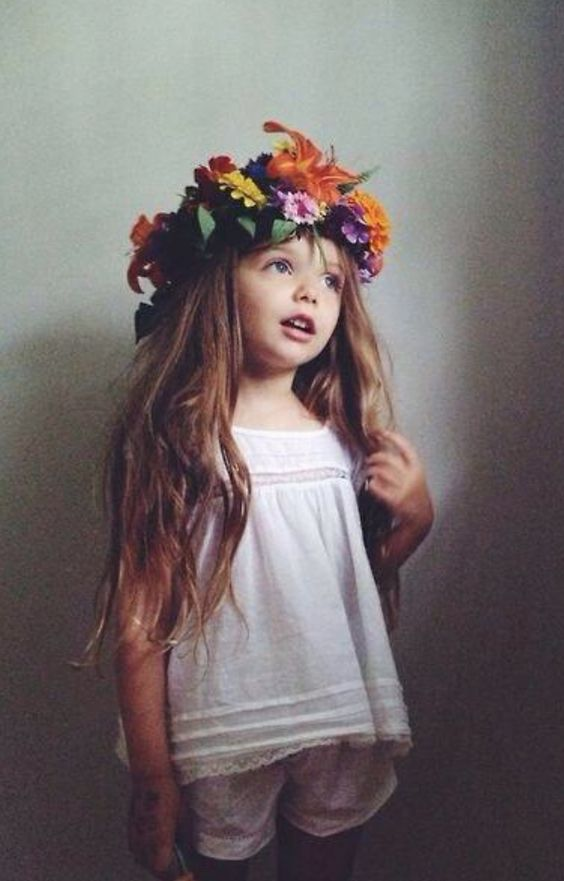 I will not allow my child to wear anything other than a flower crown... ;)