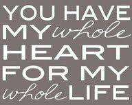 To My Sweetheart....