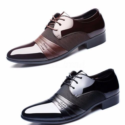 Men/'s Oxfords Leather Shoes Casual Pointed Toe Wedding Formal Office Work Shoes