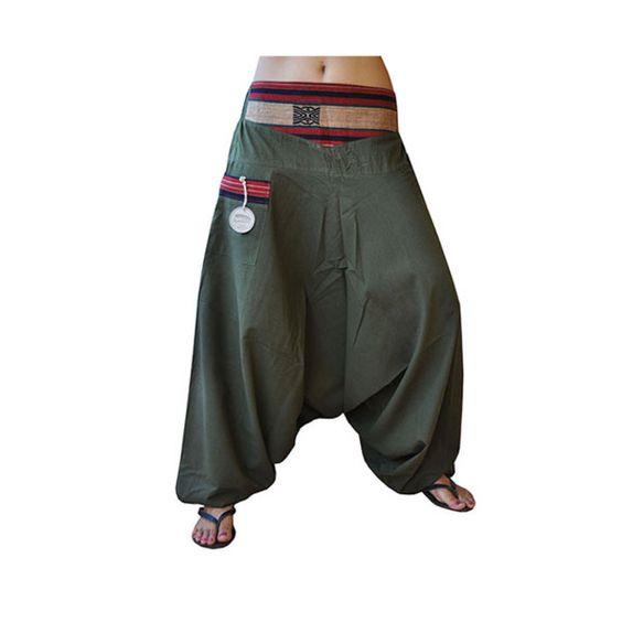 "Pantalones Harem - Pantalon de Harem ""Feierabend"" caquí de virblatt - hecho a…"