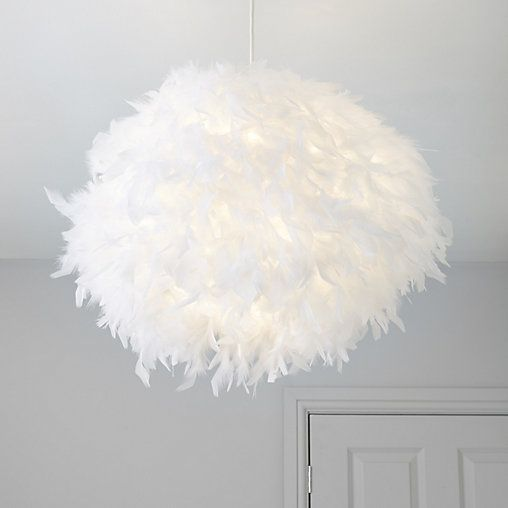Colours Melito White Feather Ball Light Shade D 400mm Feather