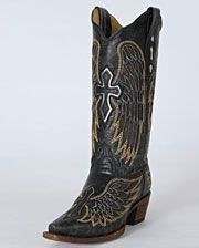 Corral Boots Ladies' Angel Wing Cross Boots - www.fortwestern.com