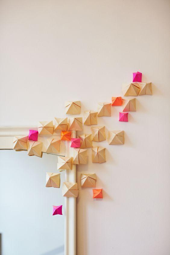Folded Paper Installation - Rue Magazine (February 2012 Issue)