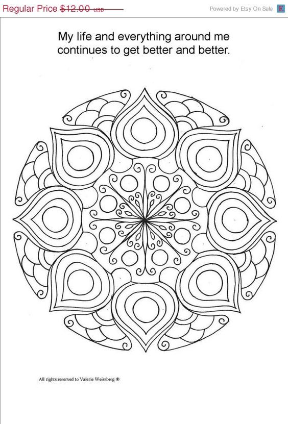 ON SALE Mandala Coloring Book