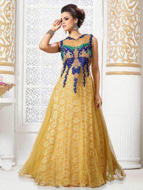 Cream Net Wedding Gown