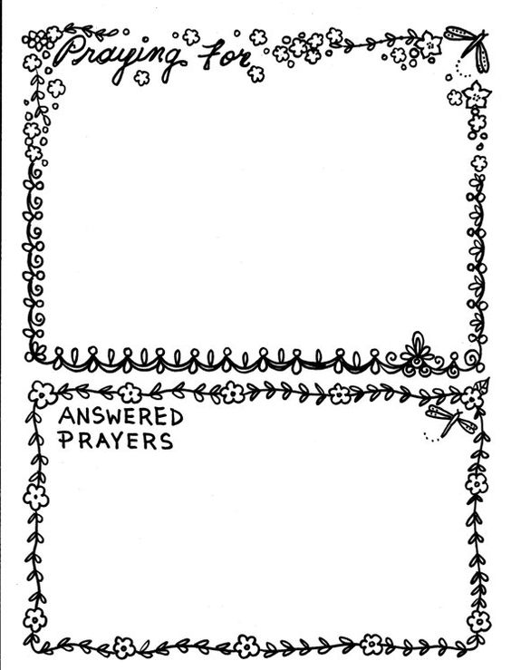 prayer journal coloring pages - photo#14