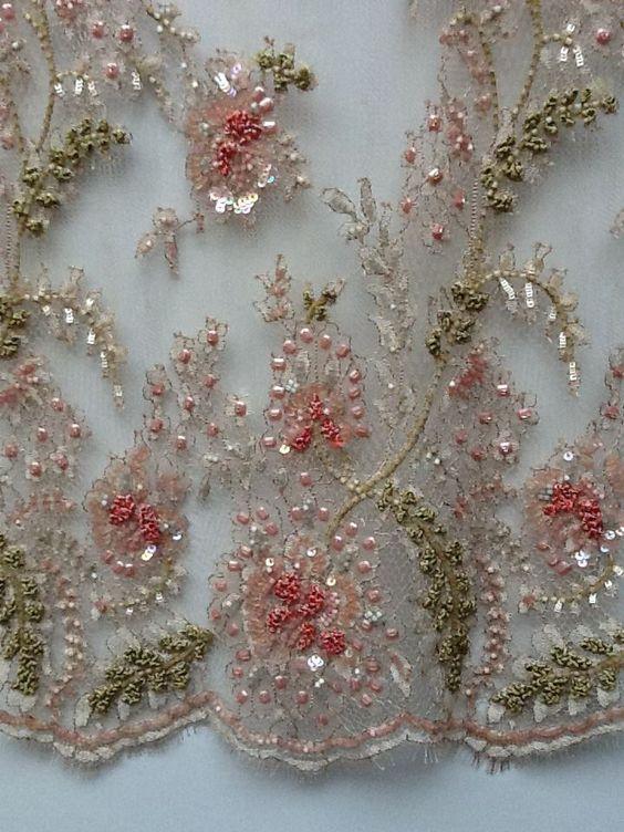 Beautiful fabrics and beaded lace on pinterest