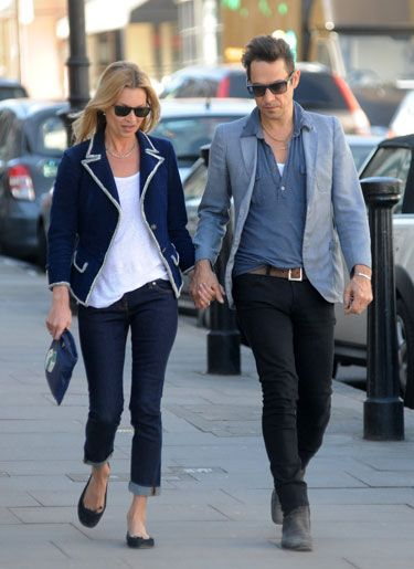 Kate Moss with her husband, Jamie in London