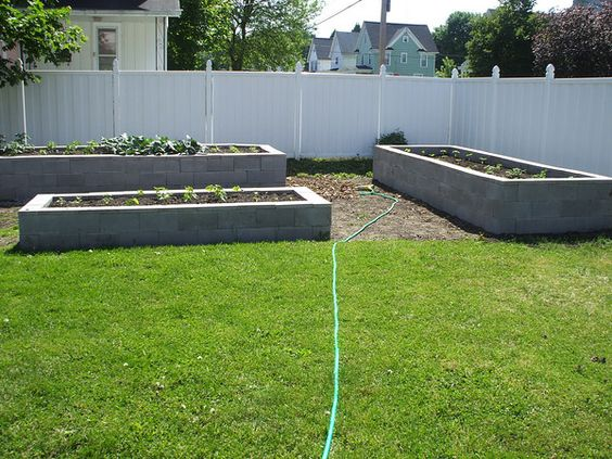 Raised Beds Cement And Vegetables On Pinterest