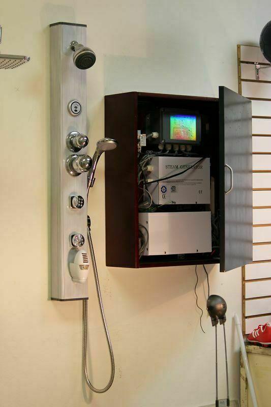 Wet Sauna Steam Shower Panel With Steam Generator Sauna