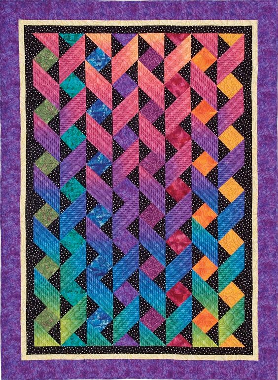 Image detail for -ribbons from fun with one block quilts by cheryl malkowski c t ...