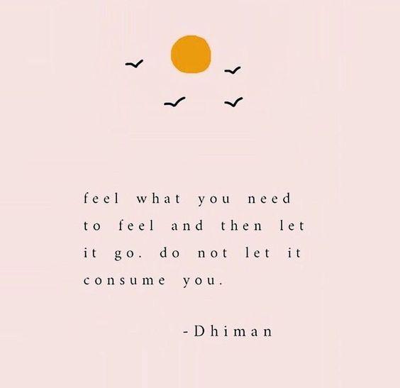sobre sentir e deixar ir - dhiman