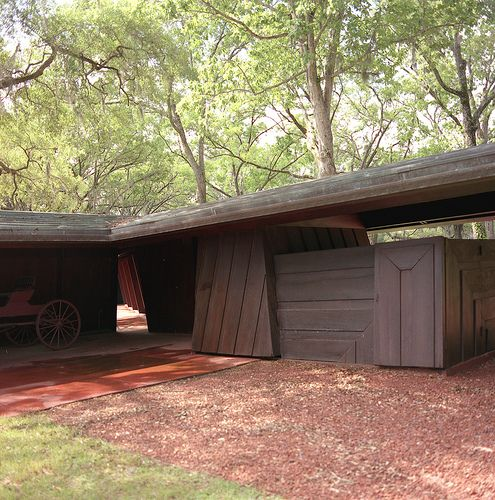 Garage Auldbrass Plantation Frank Lloyd Wright 1940 51